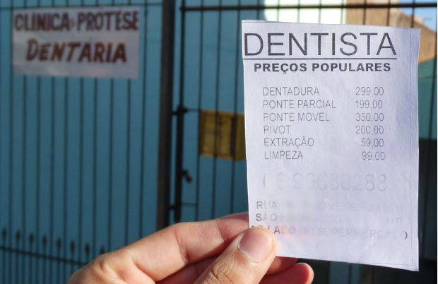 anuncio de clinica odontologica com precos