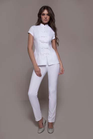 uniforme para secretaria branco tradicional