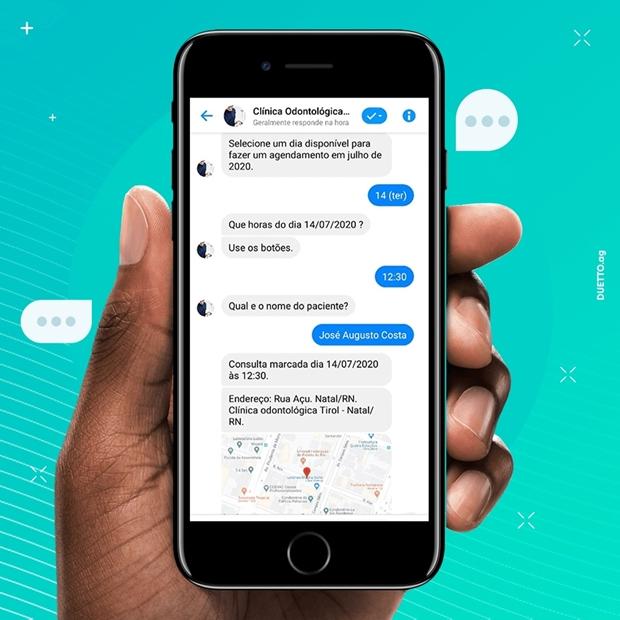 chatbot no Facebook Messenger