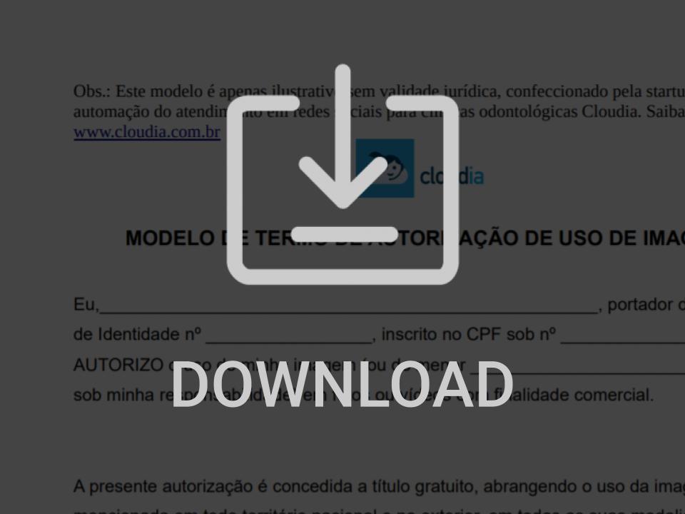 Modelo de formulário de autorização do paciente para uso de imagem de antes e depois