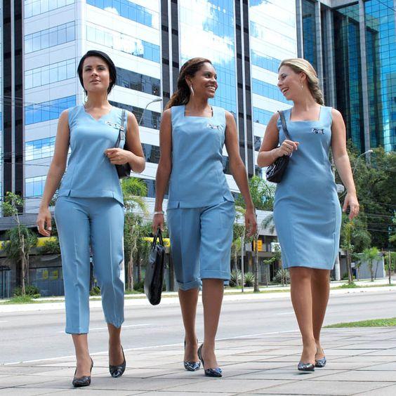 Catálogo com 50 modelos de uniformes modernos e elegantes para secretárias de clínicas